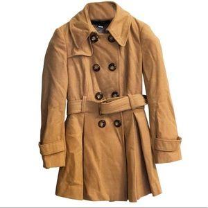 Pleated Camel Coat